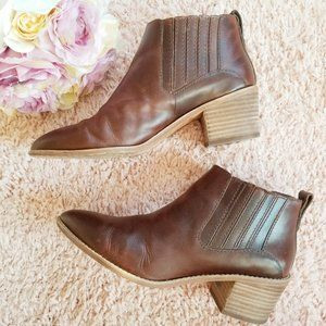Madewell Bonham Brown Genuine Leather Booties 8